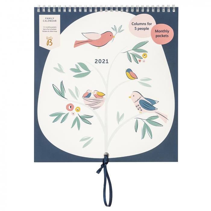 Family Calendar 2021 Birds