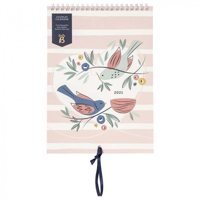 Couples Calendar 2021 Birds