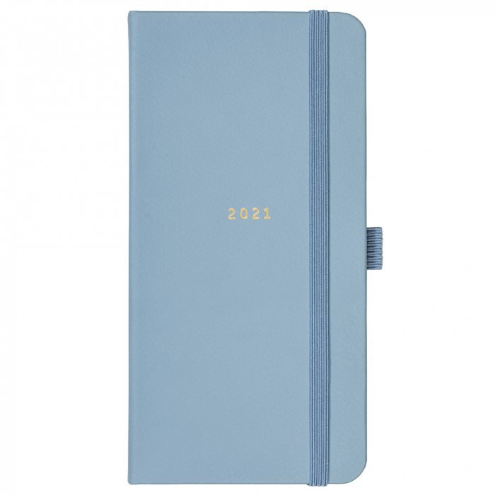 Slim Diary 2021 Blue Faux