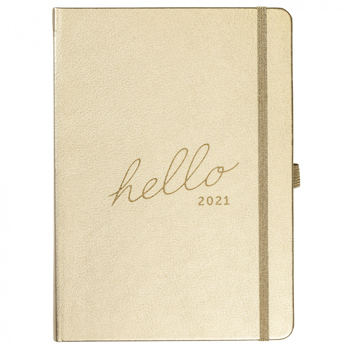 Family Diary 2021 Gold Faux