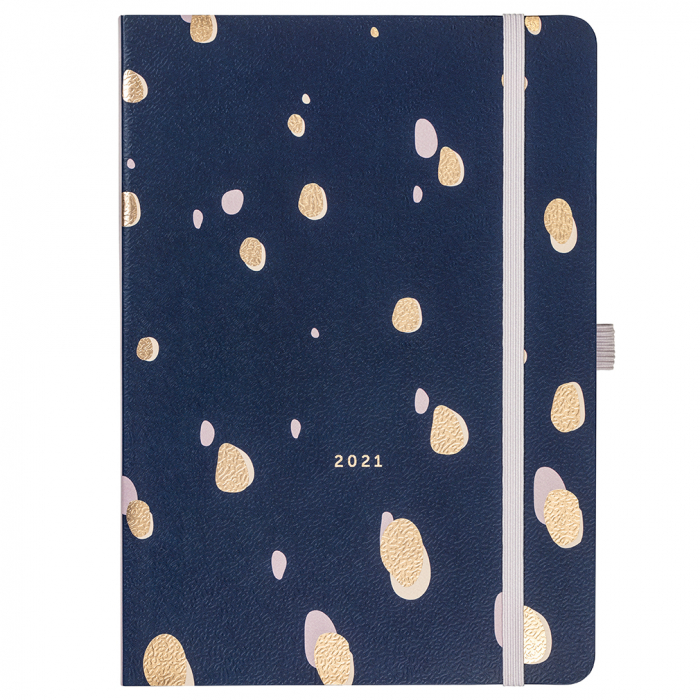 Day A Page Diary 2021 Navy Spot