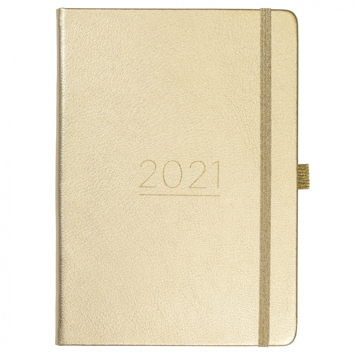Busy Life Diary 2021 Gold Faux