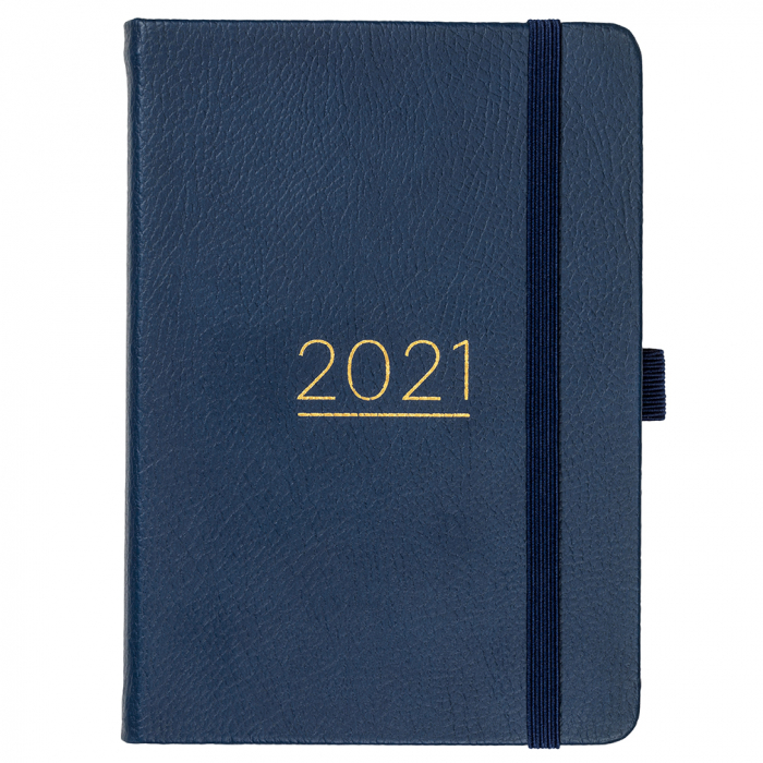 A6 To Do Diary 2021 Navy Faux
