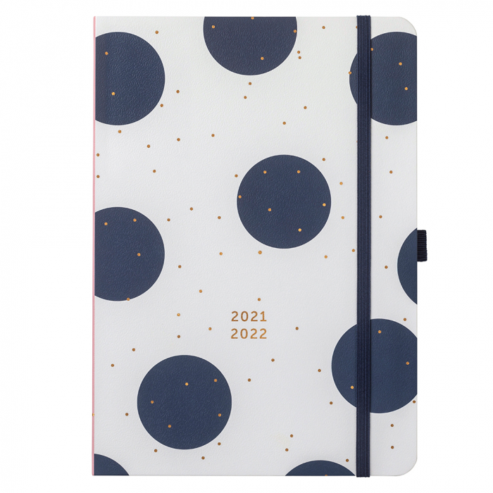 Mid Year Day A Page Diary 2021/22 White