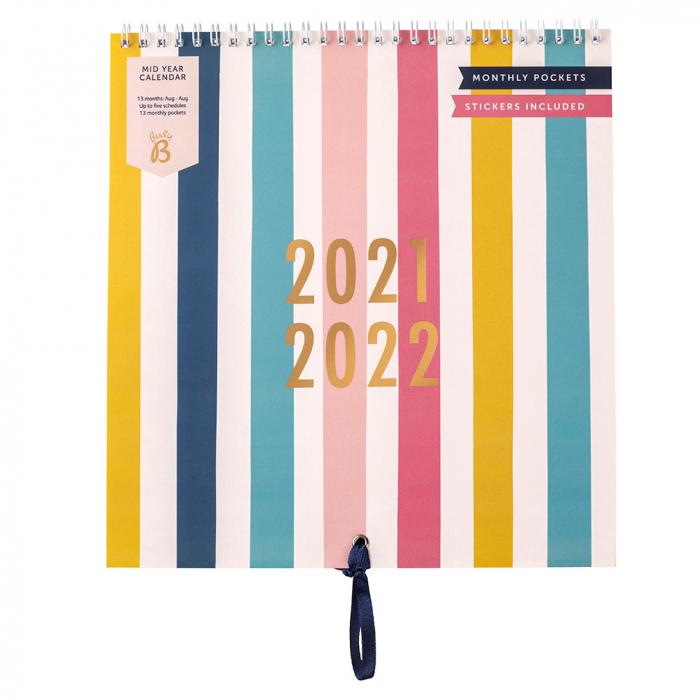 Mid Year Calendar 2021/22 Stripe