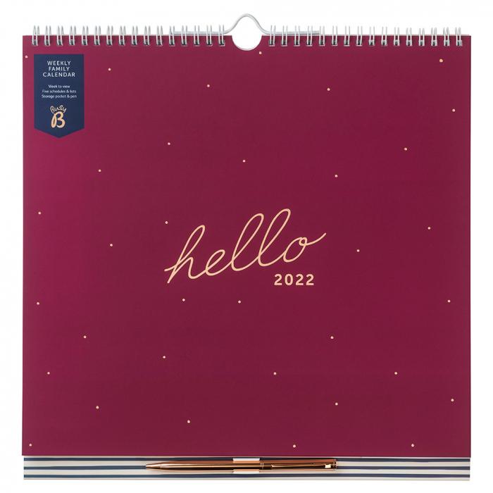 Weekly Family Calendar 2022