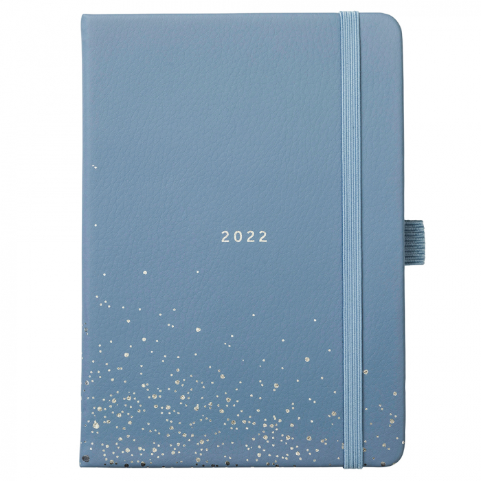 A6 To Do Diary 2022 Periwinkle Faux