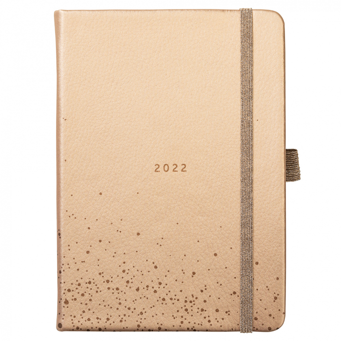 A6 To Do Diary 2022 Rose Gold Faux