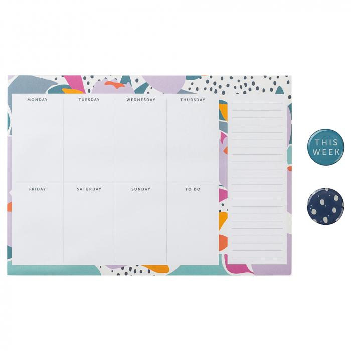 Weekly Planner Pad Floral