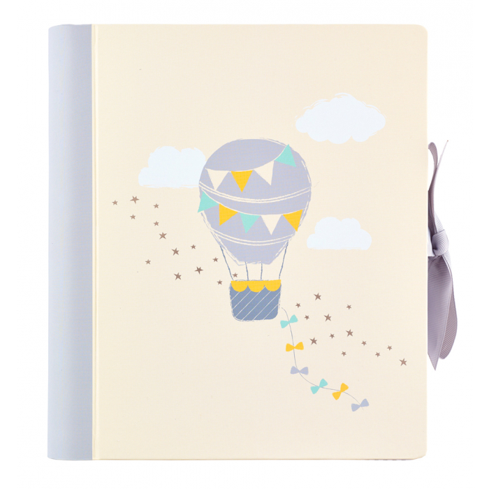 Baby memory book journal with pockets and milestone stickers