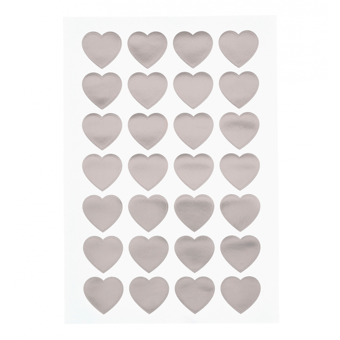Wedding Heart Stickers in foil design
