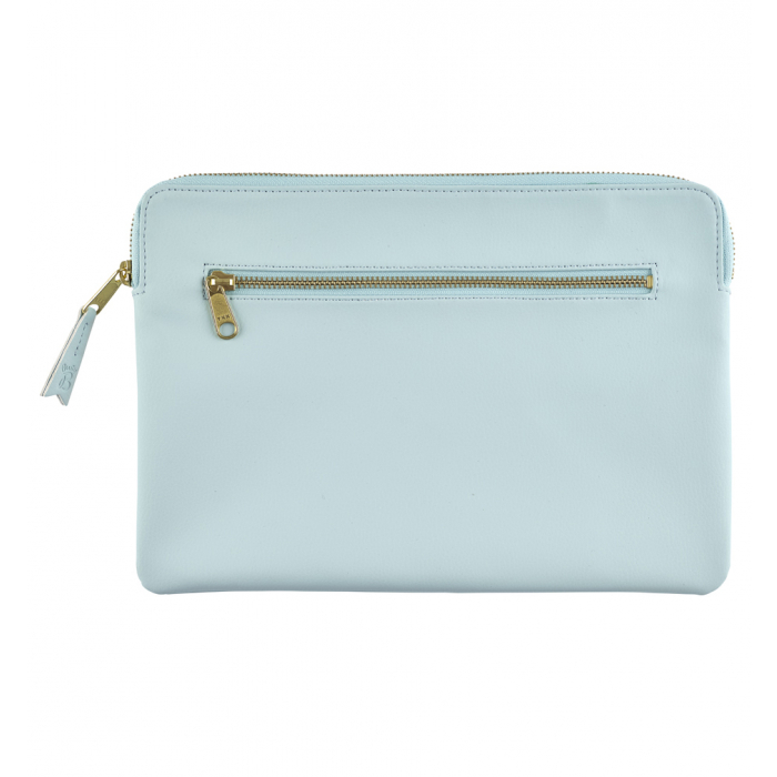 Zip pouch with two pockets, perfect for popping in your handbag when travelling