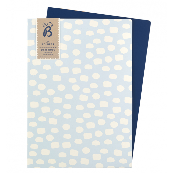 A4 folders in two different designs with pockets inside