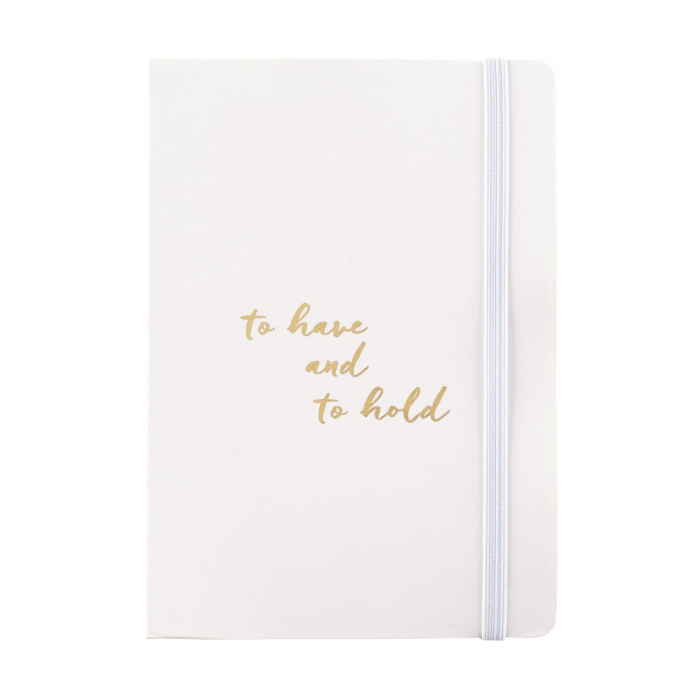 wedding notebook with handy pocket