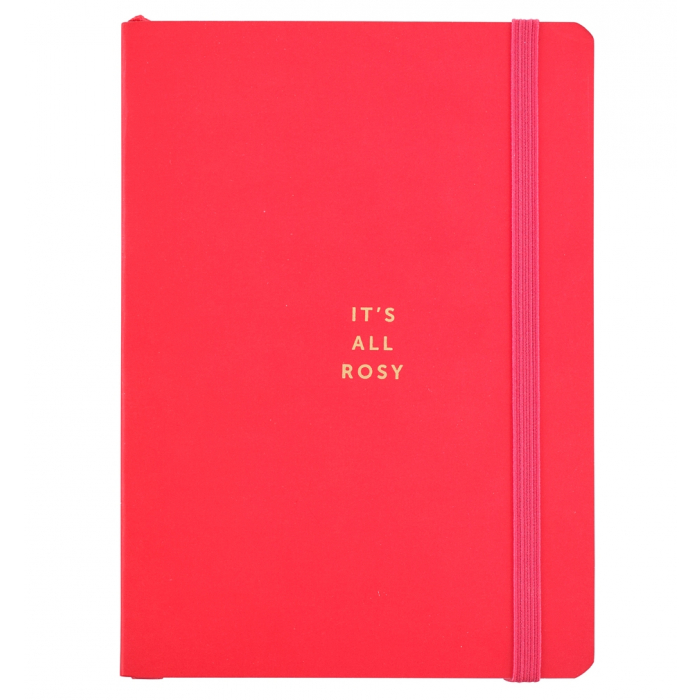 Busy Life Notebook - A6 Paper Red