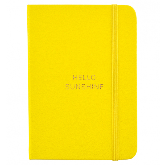 Busy Life Notebook - A6 Faux Yellow