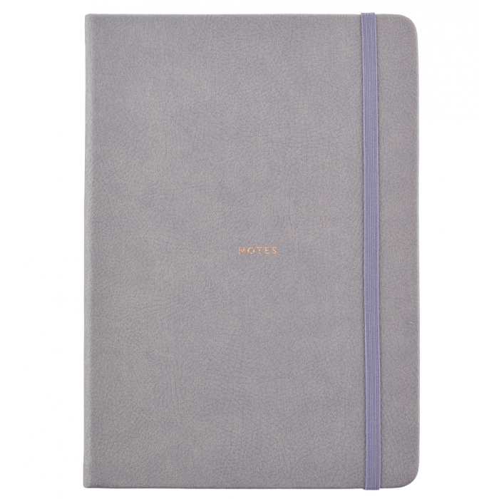 Busy Life Notebook - A5 Faux Grey