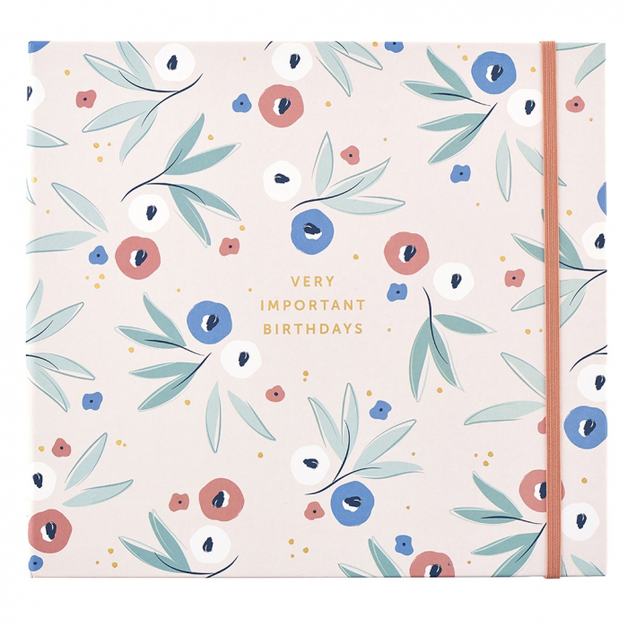 Birthday Card Book - Breezy Blossoms