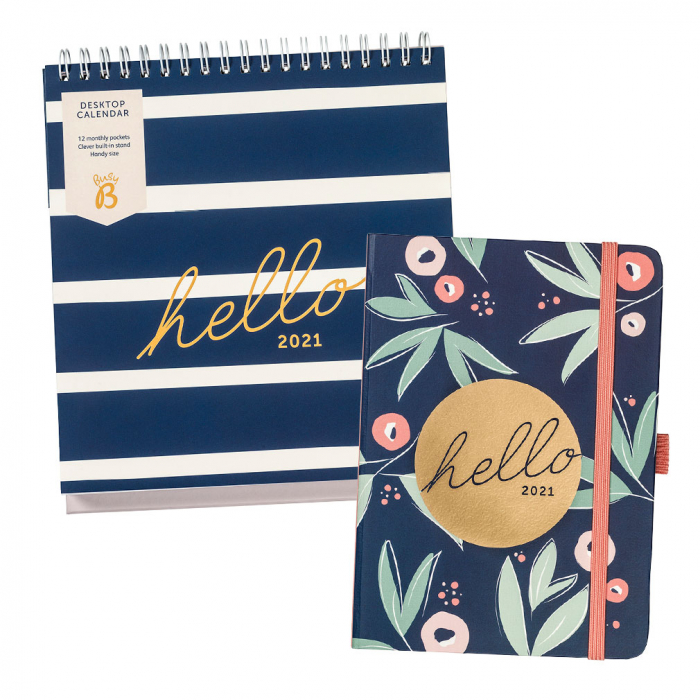 A6 To Do Diary 2021 Floral / Desktop Calendar 2021