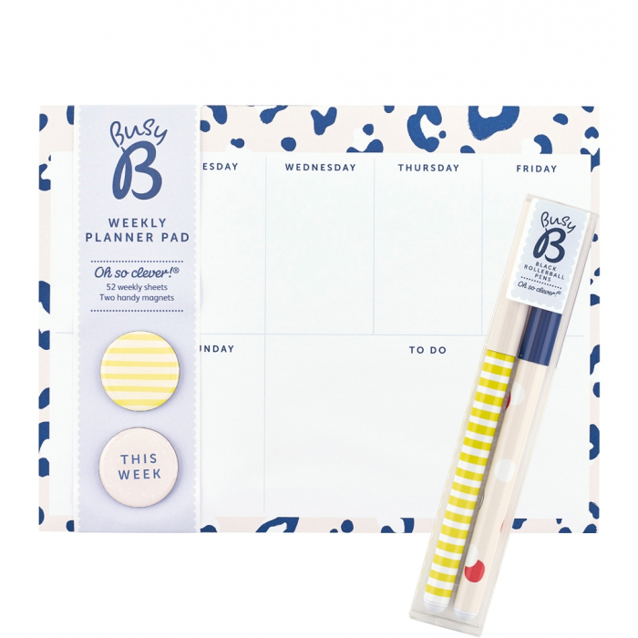 Weekly Planner Pad / Rollerball Pens - Safari Nights