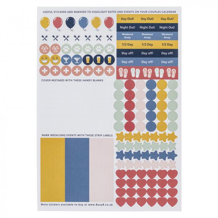 Couples Calendar 2021 Sticker Refill (X5)