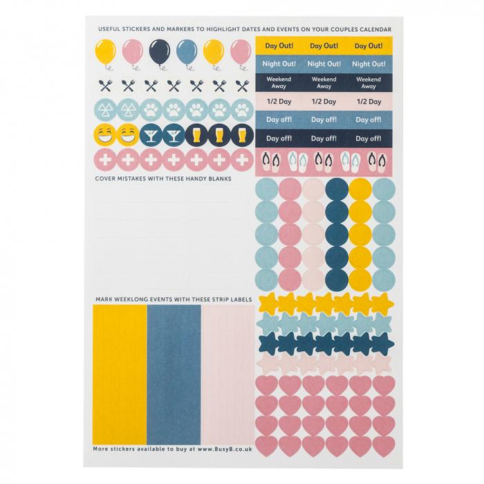 Couples Calendar 2022 Sticker Refill (x5)