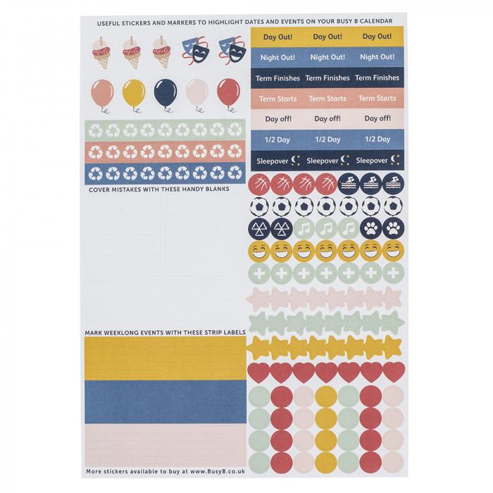 Family Calendar & Large Family Calendar 2021 Sticker Refill (X5)