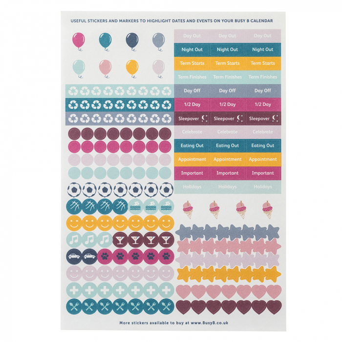 Weekly Family Calendar 2022 Sticker Refill (x5)