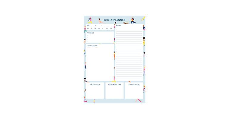 Goals Planner - Blue Image