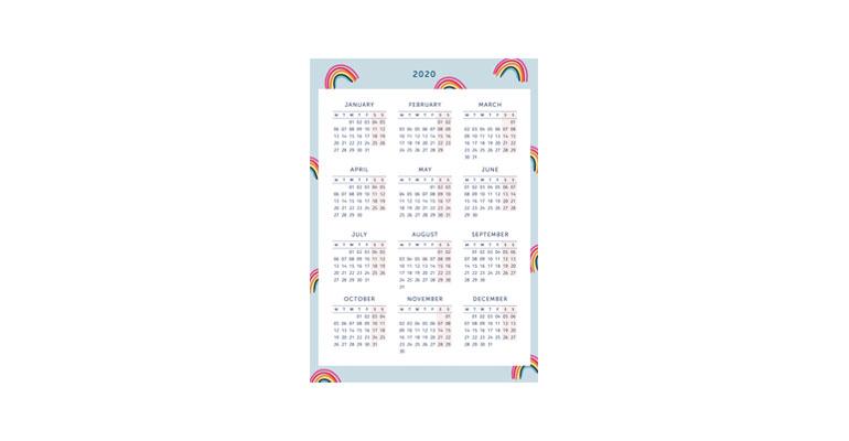 Year Planner - Rainbow Image