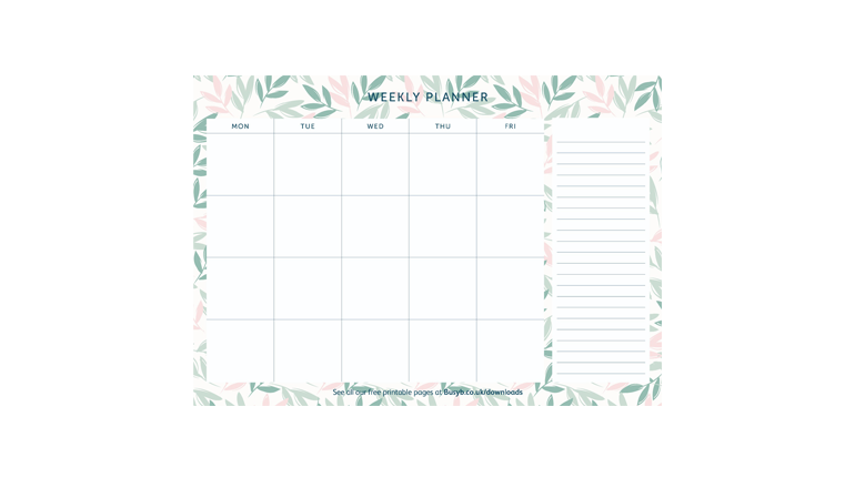 Weekly Planner - Breezy Blossoms Image