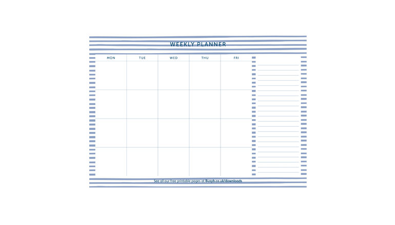 Weekly Planner - Stripes Image