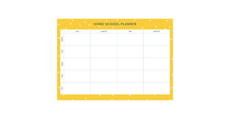 Home School Planner - Yellow Spot Image