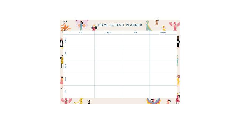 Home School Planner - Illustration Image
