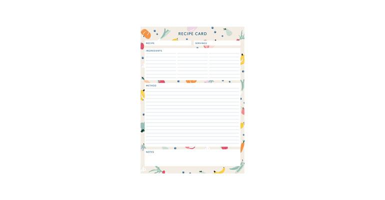 Recipe Card - Illustration Image