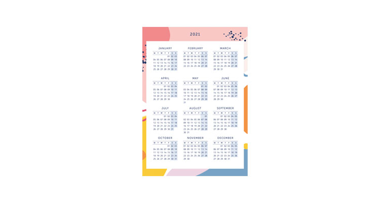 Year Planner - Bright Stripes Image